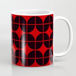 Optical Illusion Pattern Neon Red on Black Coffee Mug