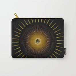 Modern Circular Abstract with Gold Mandala Carry-All Pouch