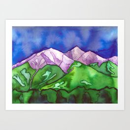 """Purple Mountains"" Art Print"