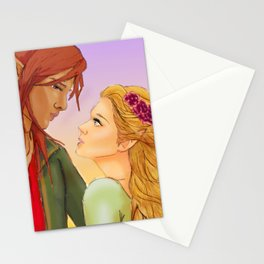 Lucien and Elain- A Court of Thorns and Roses Stationery Cards