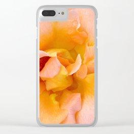 Orange Rosa Rose Clear iPhone Case