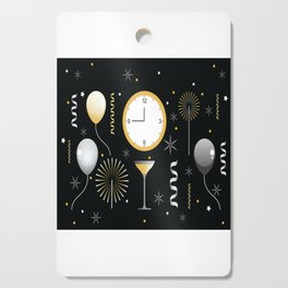 New Years Eve Celebration Cutting Board