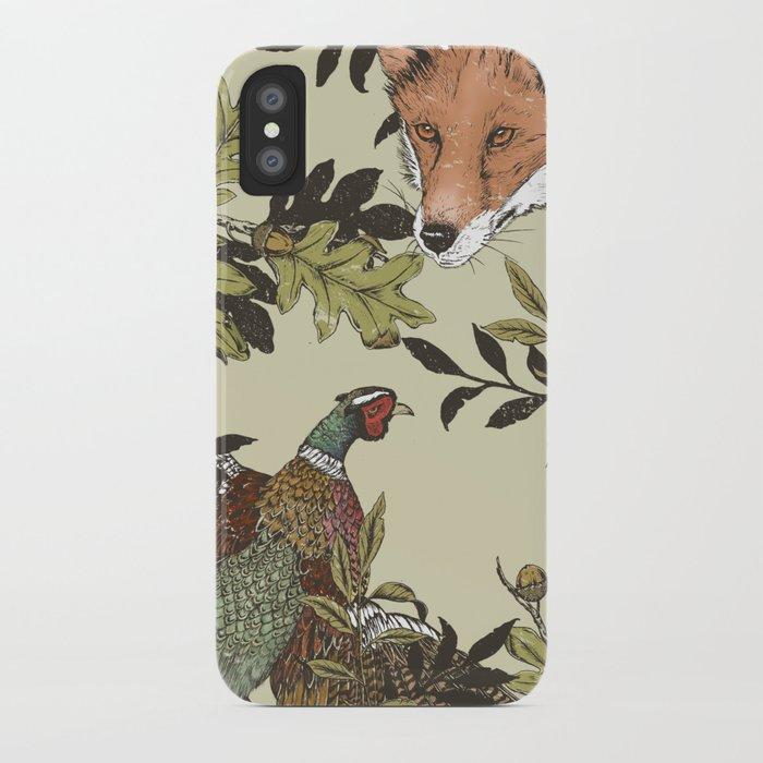 Fox & Pheasant iPhone Case