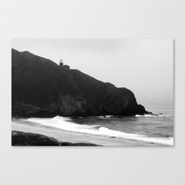 Point Sur Lightstation in Black and White Canvas Print