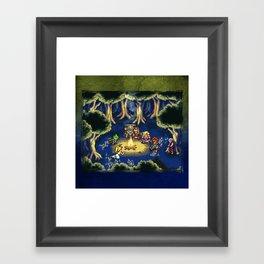 Chrono Trigger Camping Scene Framed Art Print