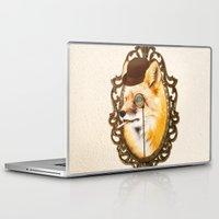 mr fox Laptop & iPad Skins featuring Mr Fox by mattdunne