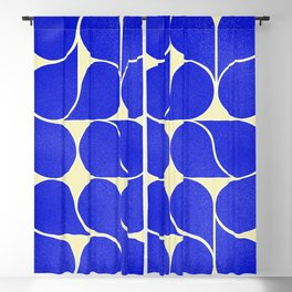 Blue mid-century shapes no8 Blackout Curtain