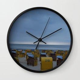 Sunset on the North Sea Coast Wall Clock