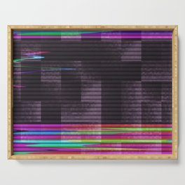 TV Noise Abstract Pattern Serving Tray