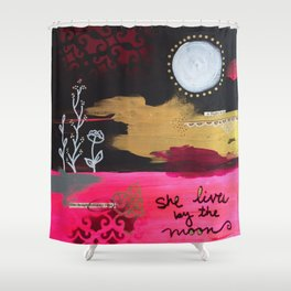 By the Moon Shower Curtain