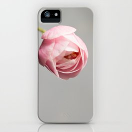 blossom on grey iPhone Case