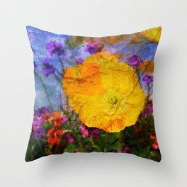 Poppy Illusion Throw Pillow