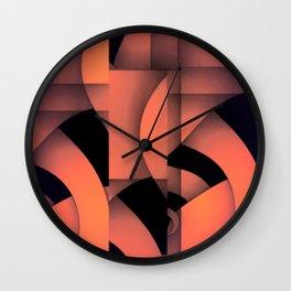 pastel curves abstract Wall Clock