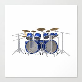 Blue Drum Kit Canvas Print
