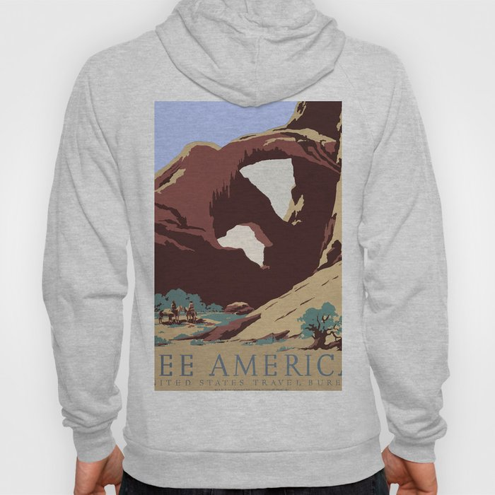 See America National Park Poster Hoody