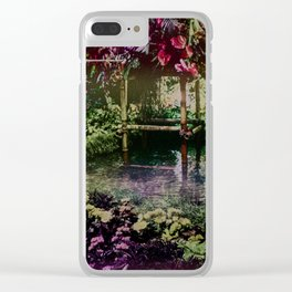 Tropical Pool Garden Clear iPhone Case