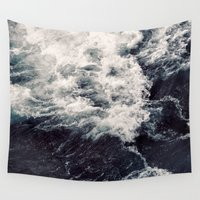rush Wall Tapestries featuring Rush of Waves by StayWild