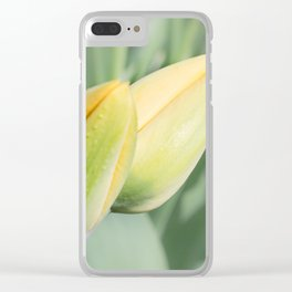 Young buds of yellow flowers. Clear iPhone Case