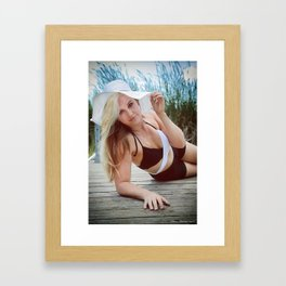Summer On The Dock Framed Art Print