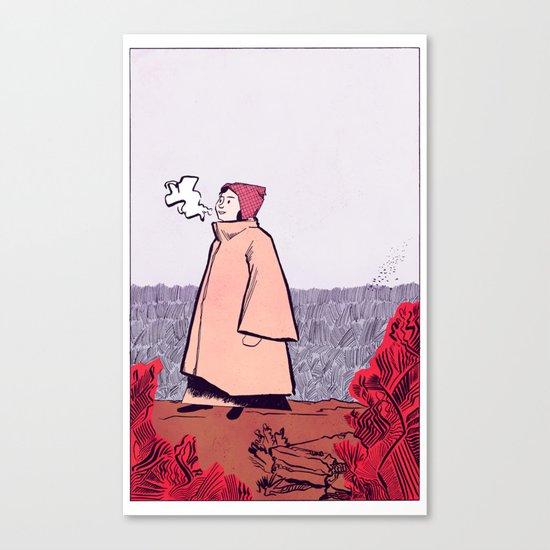 Cliff Top - Colour Canvas Print