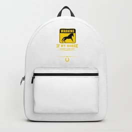 Warning Horse Backpack
