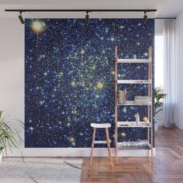 galaxY Stars : Midnight Blue & Gold Wall Mural
