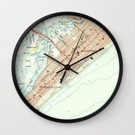 Vintage Map of Wildwood NJ (1955) Wall Clock