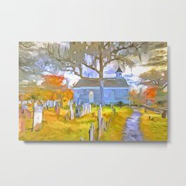 Pop Art Church Metal Print