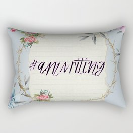#Amwriting Floral Quote Rectangular Pillow