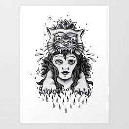 Chica tigre Art Print