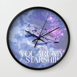 You Are My Starship Wall Clock