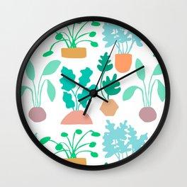 Houseplant Garden Wall Clock