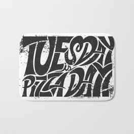 Tuesday is Pizza Day Bath Mat