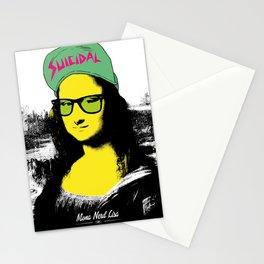 Mona Nerd Lisa Stationery Cards