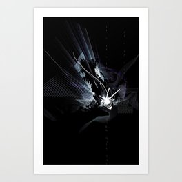 the darkness Art Print
