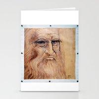 da vinci Stationery Cards featuring Leonardo Da Vinci by Michael Cu Fua