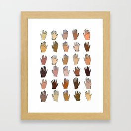 Raise your hand for equal rights Framed Art Print
