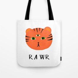 tiger says rawr! Tote Bag