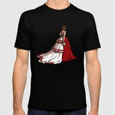Red Gown MEDIUM Black Mens Fitted Tee