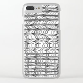 black and white ebru Clear iPhone Case