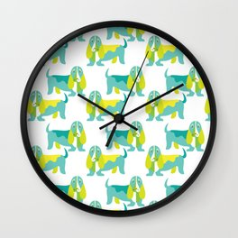Bertie Basset pattern Wall Clock