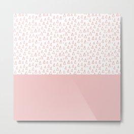 Triangles Pink Metal Print