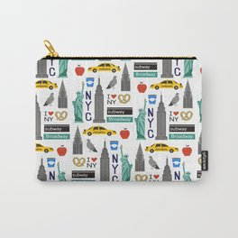 NYC travel pattern fun kids decor boys and girls nursery new york city theme Carry-All Pouch