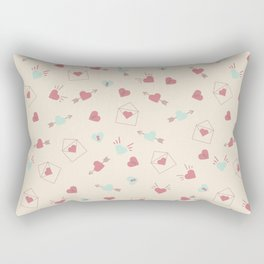 Letters for your sweetheart . Rectangular Pillow