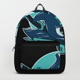 Shark With Anchor Motif Backpack