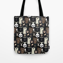 Bears of the world pattern Tote Bag