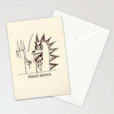 Aberdeen - dinosaur police sketch Stationery Cards