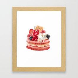 MacaronJapanese Chin Framed Art Print