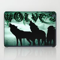 wolves iPad Cases featuring WolveS by shannon's art space