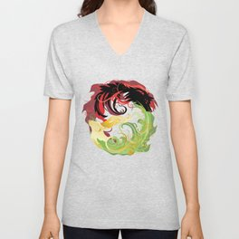 The Wolf and the Halla Unisex V-Neck